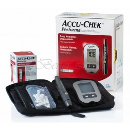 AccuChek Performa Gulcometer with 100 Test Strips