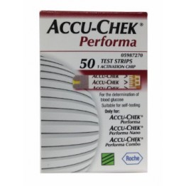 AccuChek PERFORMA Blood Gulcose Test Strips  50 Strips (1X50 PACK)