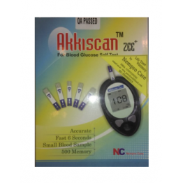 Akkiscan Blood Glucose Self Test Meter With Free 10 Strips
