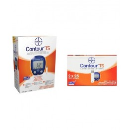 Bayer Contour TS Gulcometer with Free 50 Test Strips