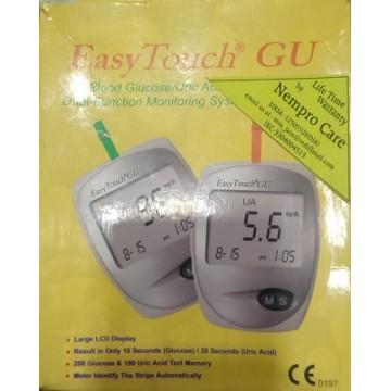 EasyTouch Glucometer GU (Dual Function -  Glucose+Uric Acid Testing)