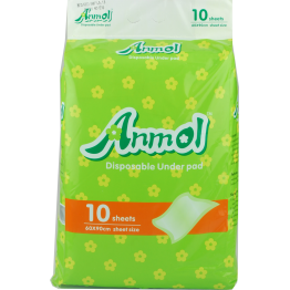Anmol Disposable Under Pad/Sheets (1X10 Pcs Pack)
