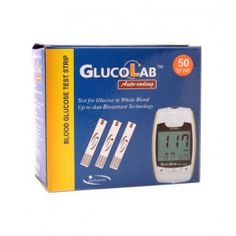 GlucoLab Auto Coding Blood Gulcose Test Strips 50 Strips