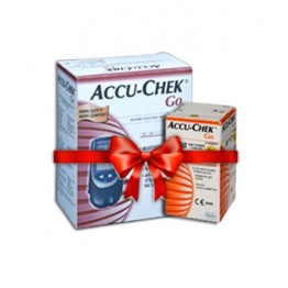 AccuChek GO Gulcometer with 50 Test Strips
