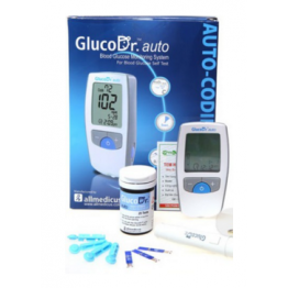 Gluco Dr. Auto Gulcometer with Free 25 Test Strips (Model : AGM 4000)