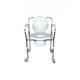 Karma Folding Commode With Wheels - Rainbow 5