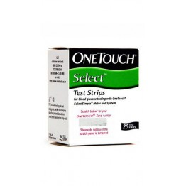 OneTouch Select Gulcometer Test Strips-25 Strips (1x25 PACK)