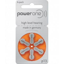 PowerOne P13 Hearing Aid Battery (6 Pcs Pack)