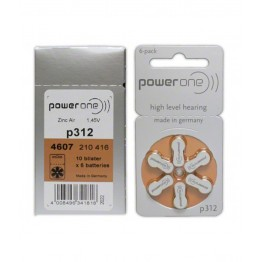 PowerOne P312 Hearing Aid Battery (6 Pcs Pack)