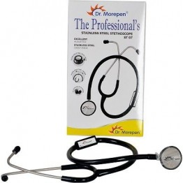 Dr Morepen Stethoscope ST 07 (Black) Stainless Steel Professional Quality