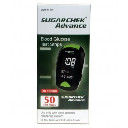 Sugarchek Advance  Wockhardt Test Strips - 50 Strips  (Individual Pack)