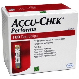 AccuChek PERFORMA Blood Gulcose Test Strips - 100 Strips (2X50 PACK)