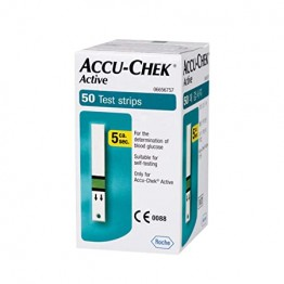 AccuChek Active Blood Gulcose Test Strips (1X50 Pack)