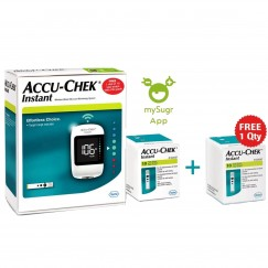 Accu-Chek Instant Wireless Glucometer With Free 10 + 10 Test Strips (Current Offer)