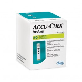 AccuChek Instant Test Strips - 50 Strips Pack