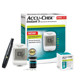 AccuChek Instant S Blood Glucose Meter With Free 10 Test Strips