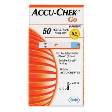 AccuChek GO Test Strips (50 Strips)