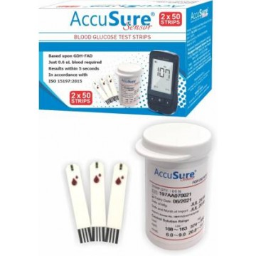 AccuSure Sensor Test Strips 100's Pack