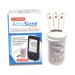 AccuSure Sensor Test Strips 25's Pack