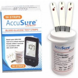 AccuSure Sensor Test Strips 50's Pack