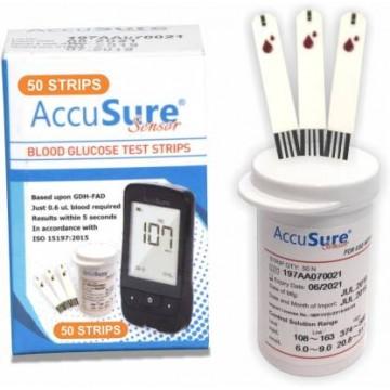 AccuSure Sensor Test Strips 50's Pack