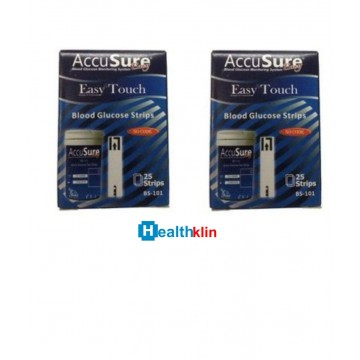 Accusure Easy Touch Strips 100  Strips (2X50 Pack)