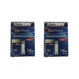 Accusure Easy Touch Strips 50  Strips (2X25 Pack)