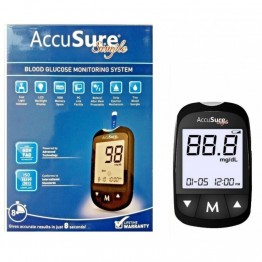 Accusure Simple Gulcometer With 25 Test Strips