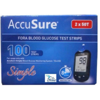 Accu Sure Dr.Gene Simple Test Strips 100 Strips (2X50 Pack)