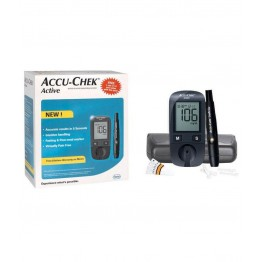 AccuChek Active Blood Glucose Monitor  (Gulcometer) With Free 10 test strips
