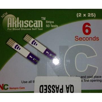 Akkiscan ZEE+ Blood Gulcose Test Strips 50 strips (1X50 Pack)