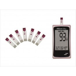 Akkiscan Slim Blood Glucose Self Test Monitor - With Free 10 Strips
