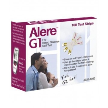 Alere G1 Gulcometer Test Strips 100 Strips Pack (2x50)