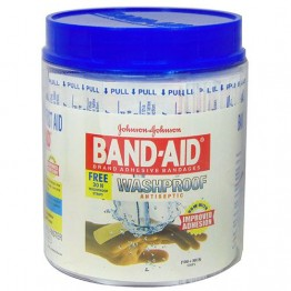 Band Aid Wash Proof Johnson & Johnson, 100 Pieces Jar