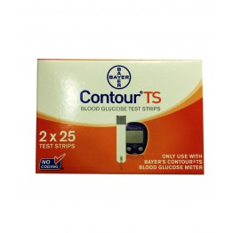 Bayer Contour TS Gulcometer Test Strips (2X25) - 50 Strips