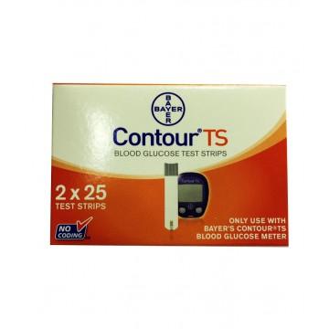 Bayer Contour TS Gulcometer Test Strips (2X25) - 50 Strips