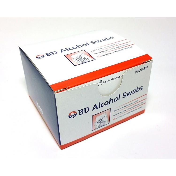 BD Alcohol Swabs - 100 Pcs