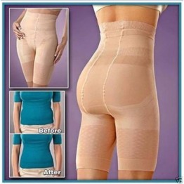 Slim Fit Ladies Body Shaper For Flat Tummy & Slimmer Thigh (Skin Color)