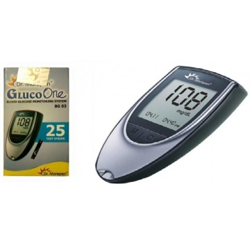 Dr.Morepen  GulcoOne BG03 Test Strips 25 Strips (1X25Pack) + One piece of BG03 Gulcometer Only