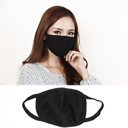 Anti Pollution Bike/Scooter Driving Protection Reusable Face Mask  (Black) - Set of 3 pcs.
