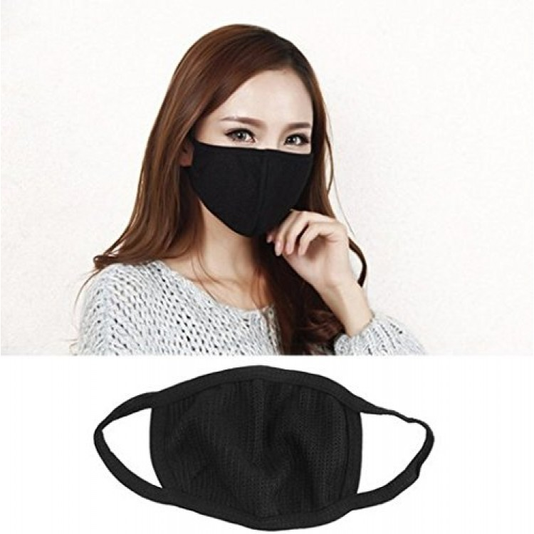 scooter black 3 Set Of Driving - Anti Reusable Bike Mask Face Pollution Pcs Protection