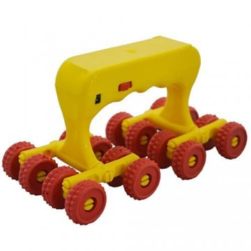 Acupressure 16 Wheels Roller Massager (With Handle and Vibration)