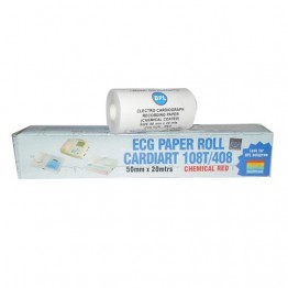 BPL ECG Paper Roll 108T/408 (50mm x 20 Mtrs.) - Pack of 5 Rolls