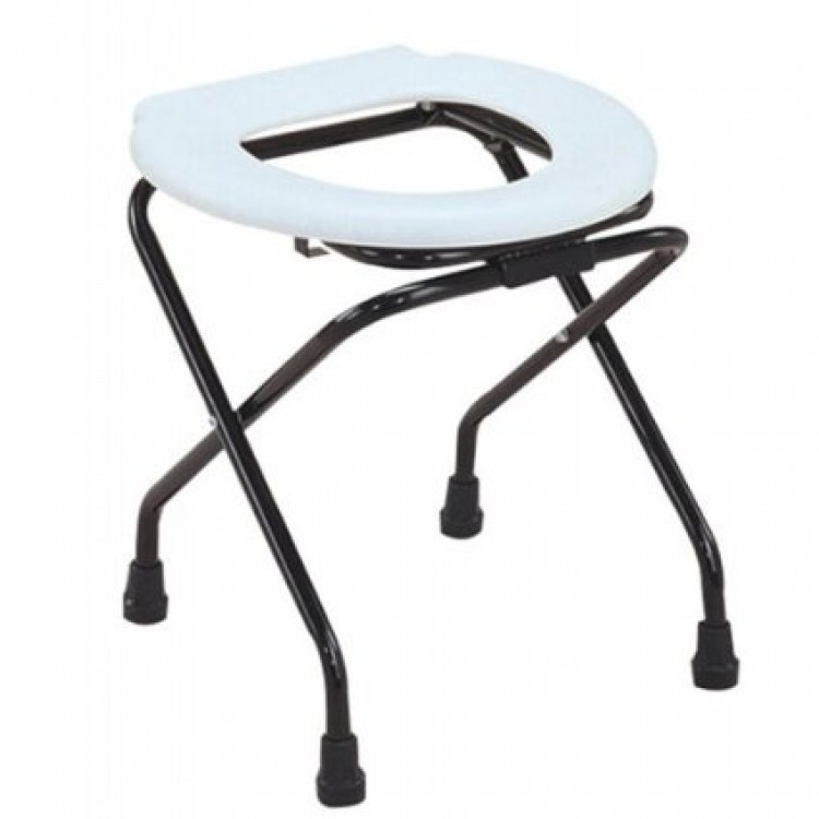 folding commode stool with pot buy online at best price in india from. Black Bedroom Furniture Sets. Home Design Ideas