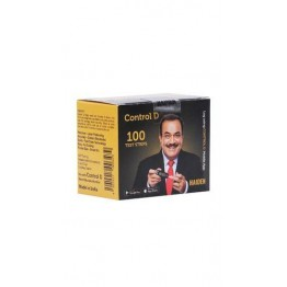 Control D Gulcometer Test Strips - 100 Strips (2x50Pack)