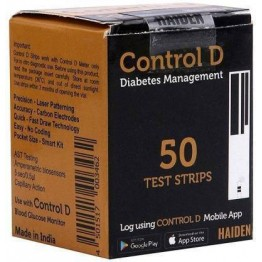 Control D Gulcometer Test Strip - 50 Strips Pack