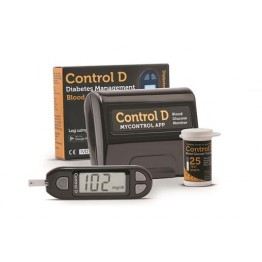 Control D Blood Glucose Gulcometer With 10 Test Strips