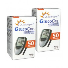 Dr.Morepen  GulcoOne MODEL BG03 Blood Glucose Test Strips 100 Strips (2X50 Pack)