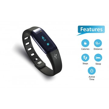 Equinox Smart Activity and Sleep Tracker Qbit Bluetooth Enabled ( EQ-AT-LS405B )