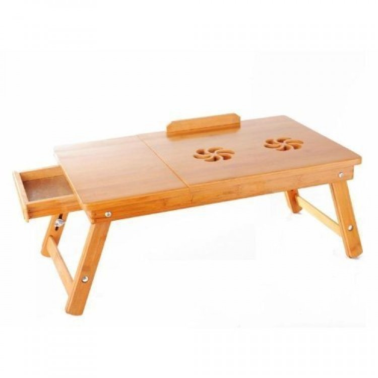 Eating Tables: Premium Wooden Foldable Multipurpose Bed Table For Eating